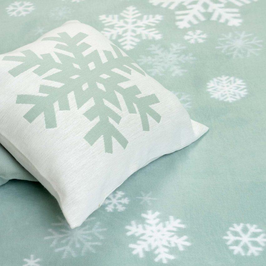 "Байковое одеяло ""Снежинки"""