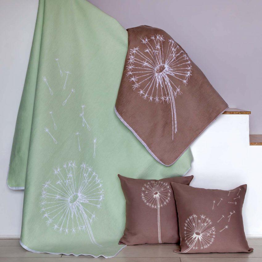 Байковое одеяло премиум Одуванчики