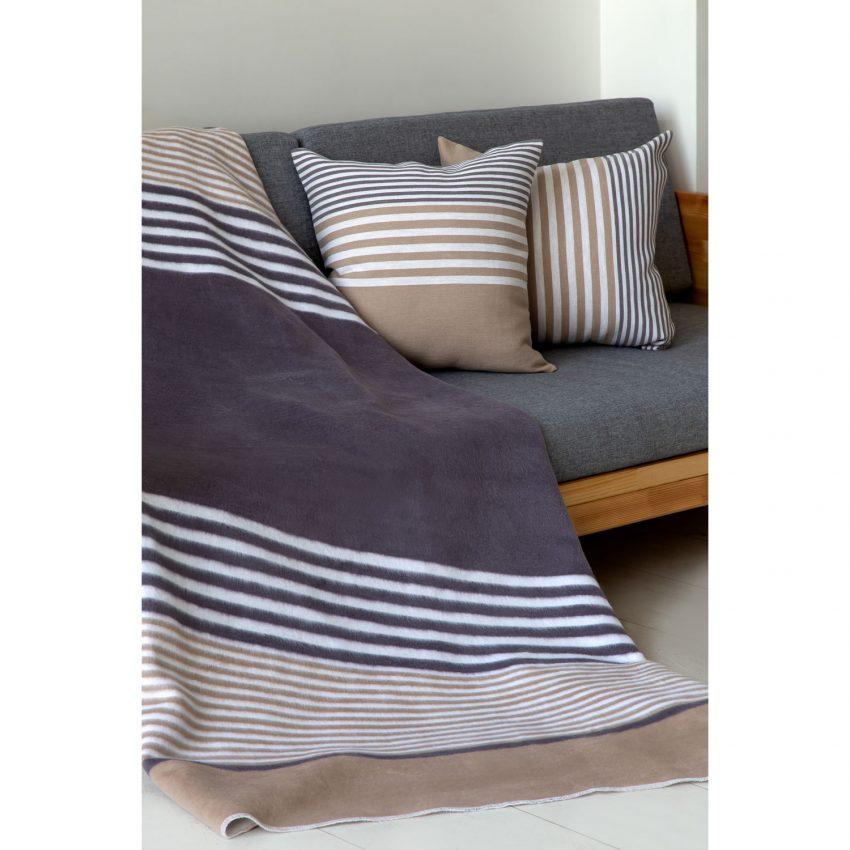 Байковое одеяло премиум Полосы