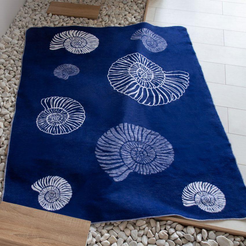 Байковое одеяло премиум Ракушки